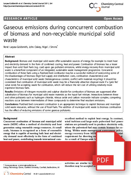 Biomass Combustion Research
