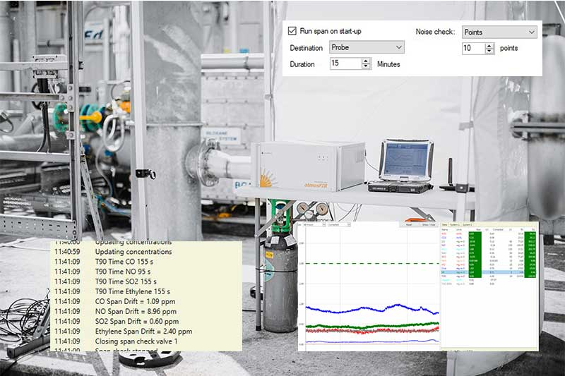 Emissions Analyser Software Features